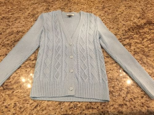 St. John Sport Sky Blue Sweater New Without Tags Petite Small