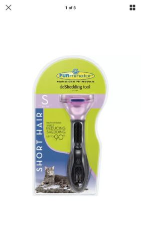 NEW SEALED PKG. FURMINATOR DESHEDDING TOOL CATS SHORT HAIR SMALL UP TO 10 LBS