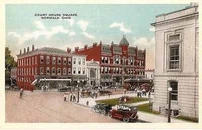 Postcard NORWALK Ohio/OH  Court House Square view 1910's