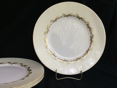 Set of 4 Minton Gold Laurentian 10-5/8