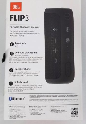 JBL Flip 3 Portable Bluetooth Harman Kardon Speaker Splashproof 10 Hours Music