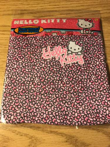 Brand New Hello Kitty Stretchable Pink Book Cover Fits most books