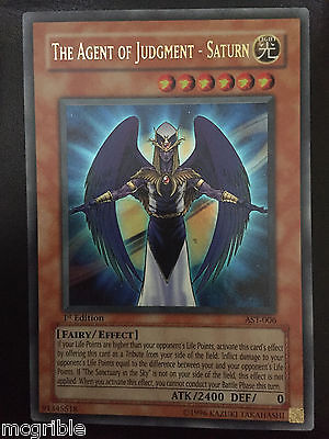 Yugioh - The Agent Of Judgment - Saturn [AST] [Ultra Rare] [1st Edition]