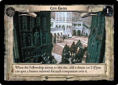 LOTR TCG HU HUNTERS CITY GATES 15S189 MINT