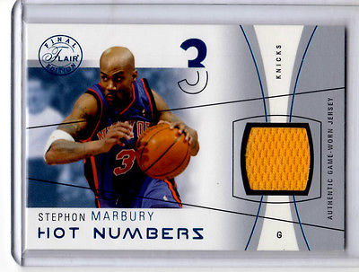 Stephon Marbury  Hot Numbers game used jersey card  #101/250