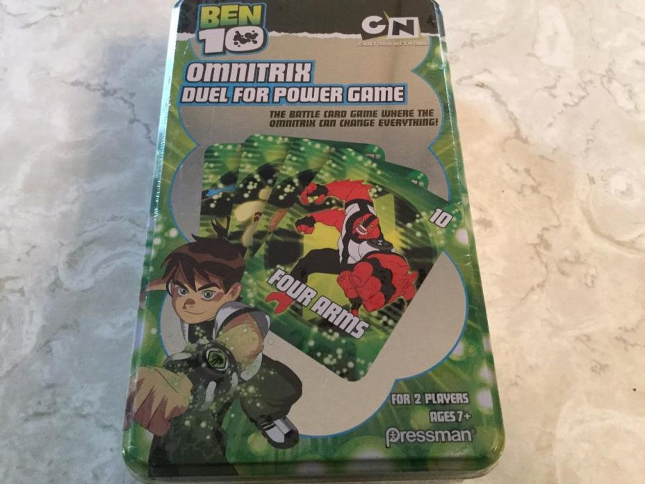 BEN 10 OmniTrix Duel for Power Game NEW SEALED in TIN Cartoon Network Pressman
