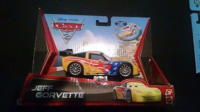 Disney Cars 2 Jeff Gorvette pull back and release Car by Mattel
