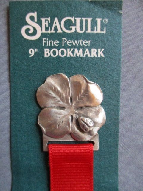 "Ladybug PANSY 9"" BOOKMARK retired 1996 SEAGULL Fine Pewter moc"