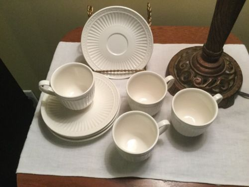 Mikasa DD900 Italian Countryside White Cup & Saucer set of 4