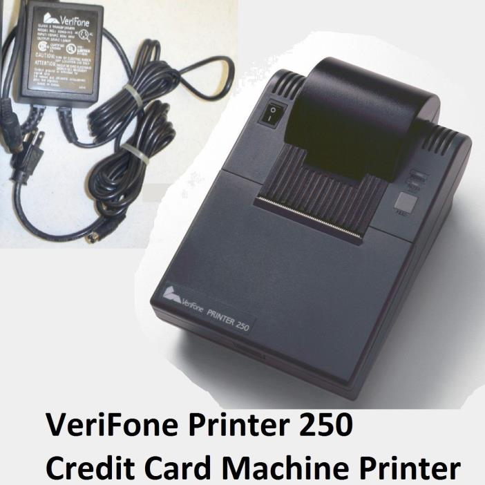 VeriFone Credit Card Machine Printer and Power Supply 250