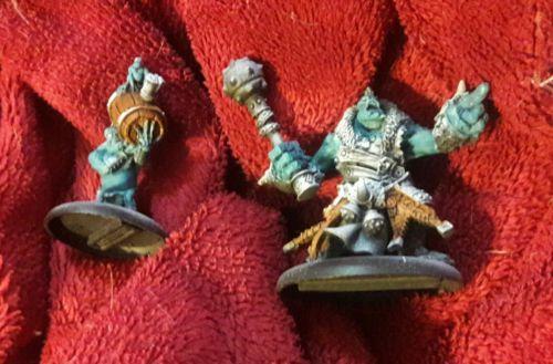 Warmachine & Hordes Trollbloods Warcaster Borka Kegslayer painted pewter base