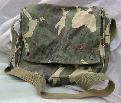Cotton Camo camouflage messenger type shoulder bag drab olive green