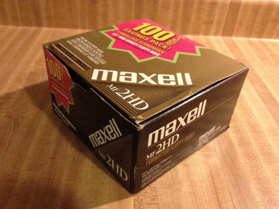 Box of 99 Maxell 2HD 3.5