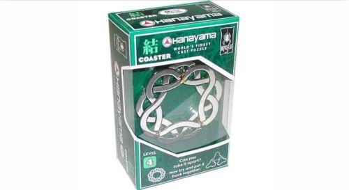 Coaster ~ Level 4 ~ BePuzzled Hanayama Cast Metal Brainteaser NEW!