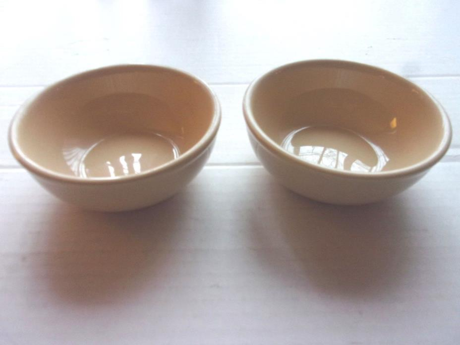 2 Homer Laughlin Restaurant Ware Tan Chili Bowls