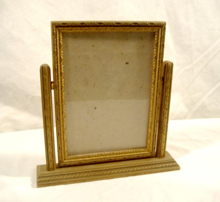 Vintage Swivel Swing Picture Frame Gilt Gold Wood Tabletop Fits 5