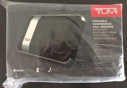 Tumi - Portable Bluetooth Conference Call Speaker - Black *NEW in BOX*