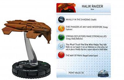 Halik Raider  # 013 heroclix Star Trek w card MINT IN BOX MIB