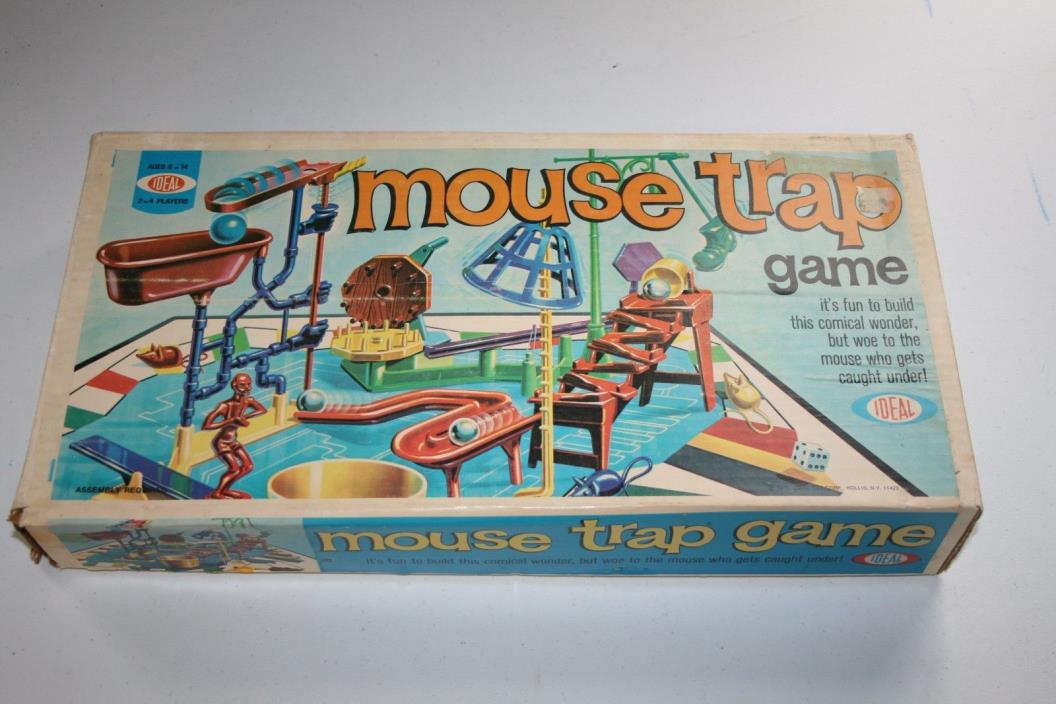 1970 Mouse Trap Board Game 95% Complete