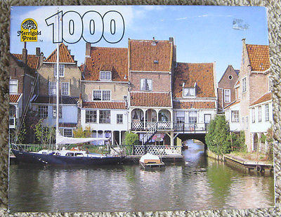 1996 Holland Port 1000 Piece Merrigold Press Jigsaw Puzzle #75922-26 Complete