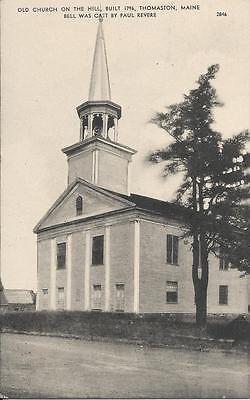 Postcard Maine Thomaston Old Church Knox County 1955