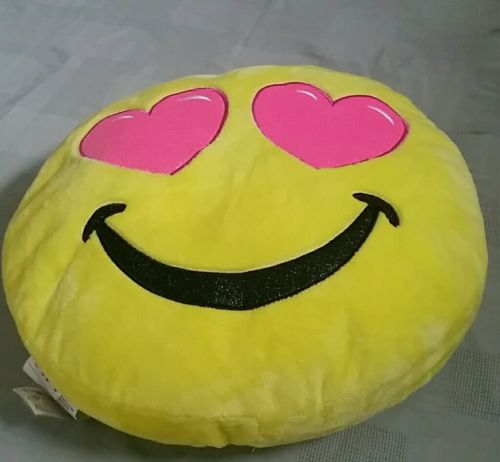 Justice emoji pillow new with tags large size