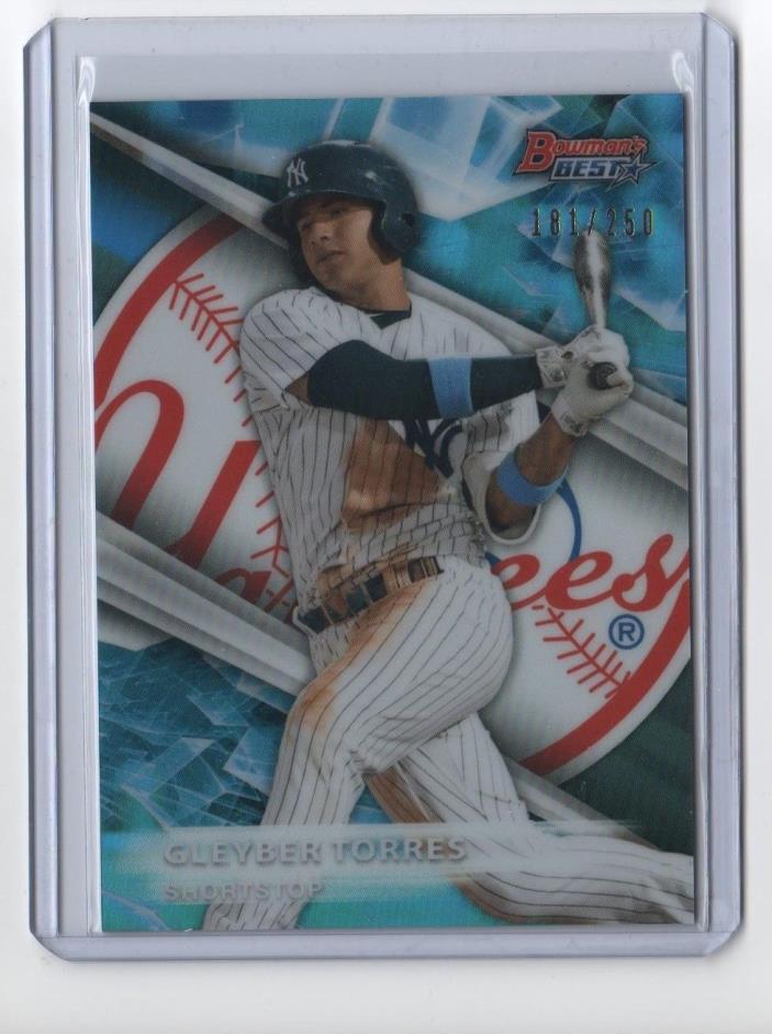 2016 Bowman's Best Prospect Blue 181/250 Gleyber Torres New York Yankees