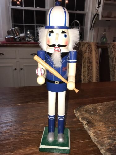 Nutcracker Baseballer Baseball Chicago Cubs Colors Man Cave Decor 15