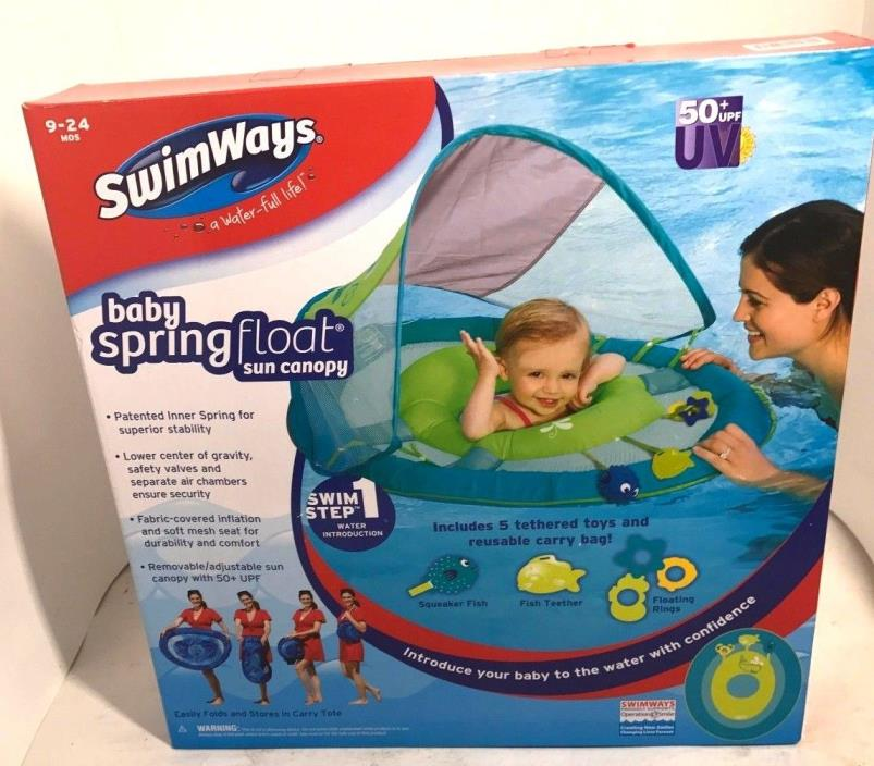 New Baby Spring Float Sun Canopy Ages 9-24 mos