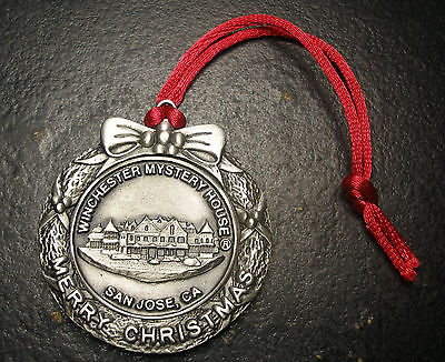 Winchester Mystery House Pewter Christmas Ornament