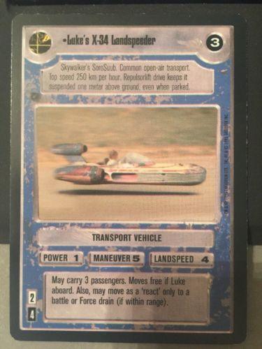 Star Wars CCG Premiere Luke's X-34 Landspeeder Limited BB Black Border played