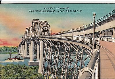 THE HUEY P. LONG BRIDGE CONNECTING NEW ORLEANS LOUISIANA WITH THE GREAT WEST  LA