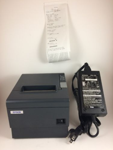 Epson Micros Thermal Printer TM-T88IV M129H with Power Supply