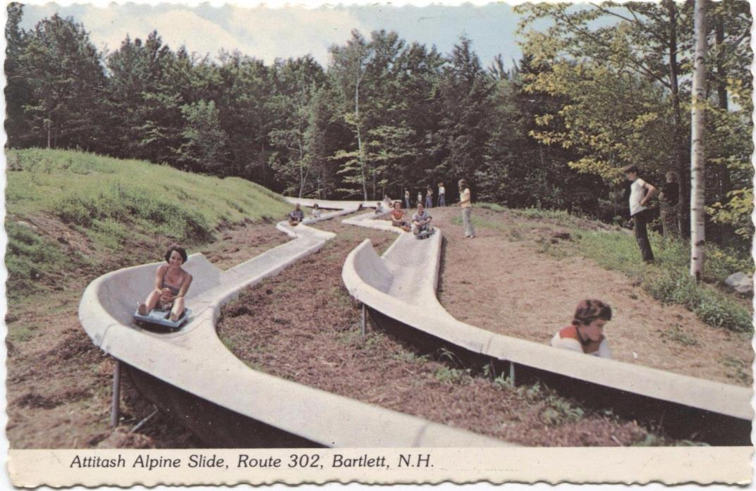 Attitash Alpine Slide Bartlet New Hampshire Vintage Postcard C825
