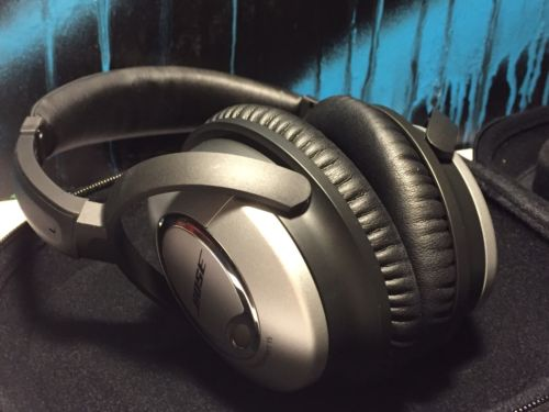 EXCELLENT Bose QuietComfort 15 QC15 Acoustic Noise Cancelling Headphones! +CASE!