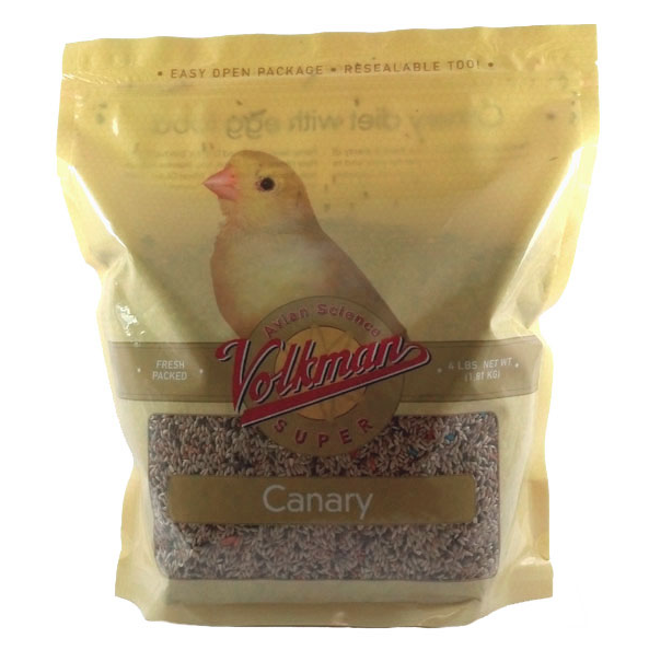 Volkman Avian Science Super Canary Food Nutritionally Balanced Diet Mix, 4 Lbs