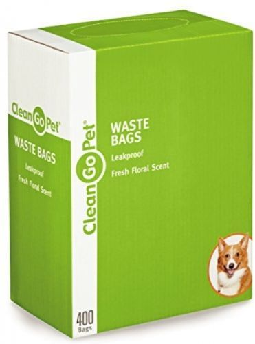 Clean Go Pet Fresh Scent Doggy Waste Bags 400-Count - Convenient, Leakproof,/1b