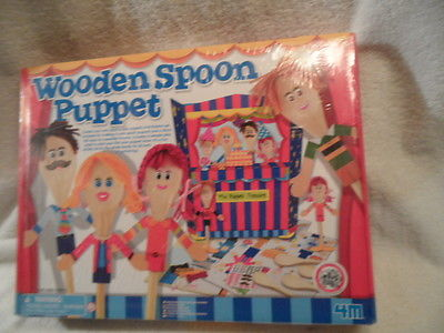 wooden spoon puppet kit-ages 3& up Brand New from Toysmith craft kit Brand New