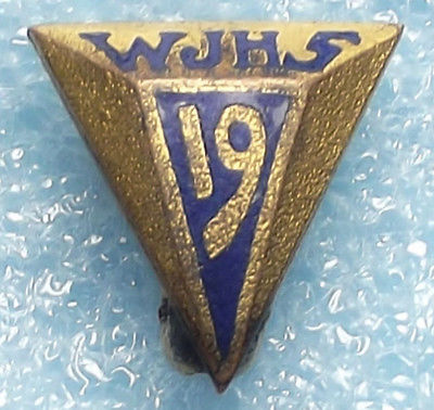 1919 Antique WJHS High School Graduation Award Recognition Lapel Pin