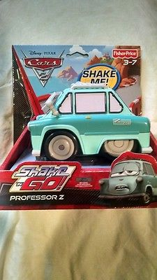 SHAKE N GO Professor Z from Cars 2 Fisher Price Brand New