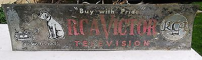 Original Vintage RCA Victor Television Sign