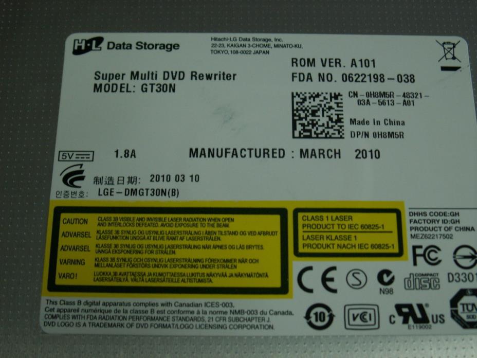 HL Data Storage GT30N Super Multi DVD RW BURNER Optical Drive