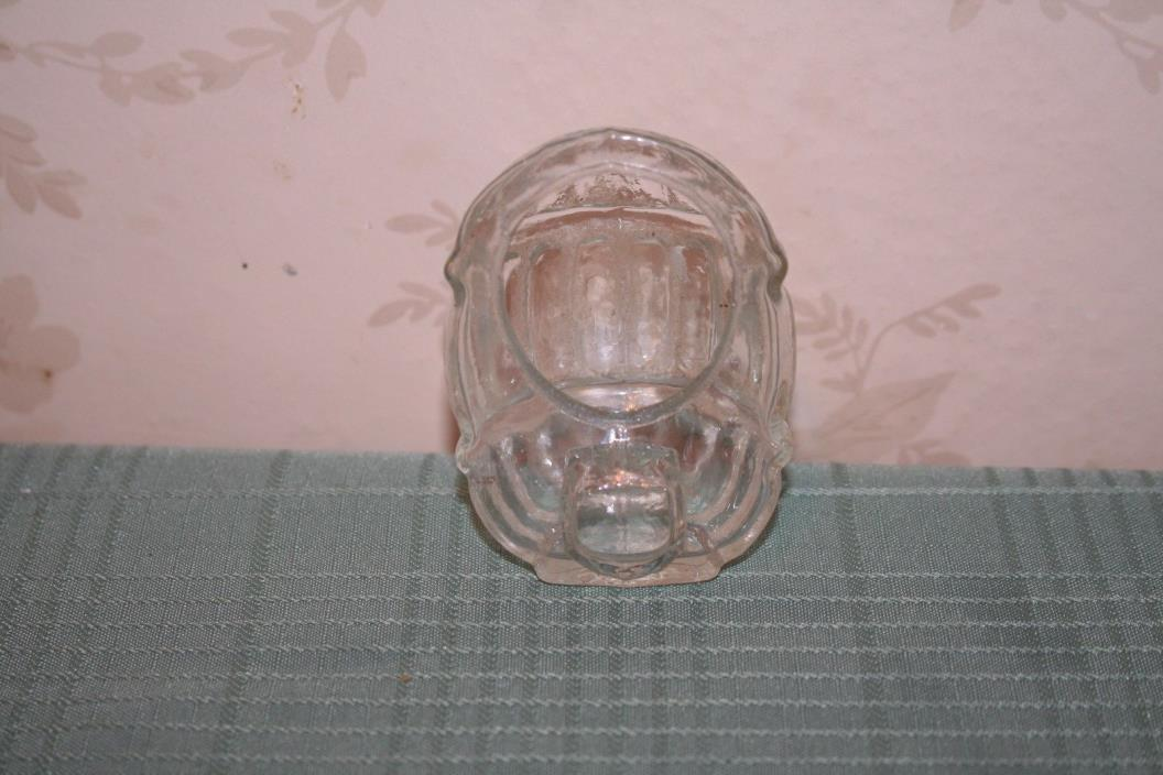 Vintage Clear Glass Bird Cage Seed or Water Cup