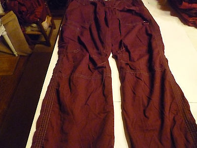 Scrub Pant KOI Kathy Petersen maroon medium Tall drawstring