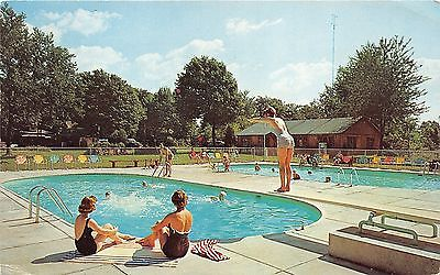 Berrien Springs Michigan~Pennellwood Resort~Lady Diving~Bathing Beauties~1962 Pc