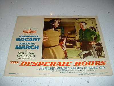 DESPARATE HOURS-BOGART-1955 LOBBY CARD #2