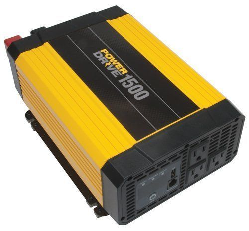 PowerDrive RPPD 1500-Watt DC to AC Power Inverter with USB Port Free Shipping