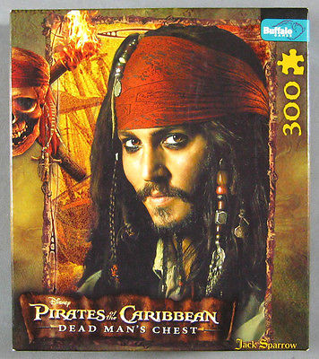 Disney Pirates of Caribbean Jack Sparrow Jigsaw Puzzle Buffalo Games Complete