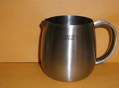 2009 Starbucks 16oz Milk Steaming Pitcher Frother Thick Stainless Steel Creamer