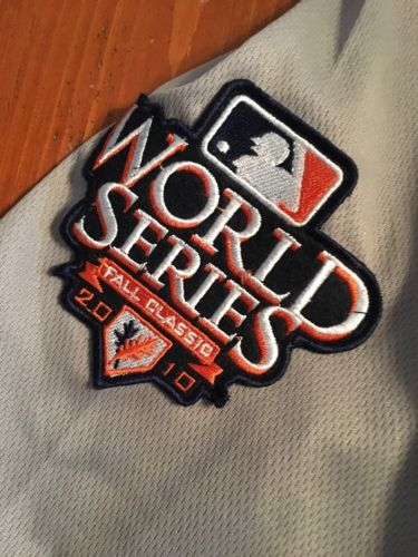 SF Giants 2010 World Series Posey size 48 Gray Jersey